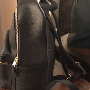 Coach Bags - Coach Backpack - Black leather with gold accents